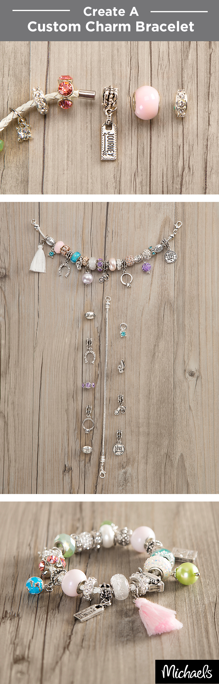 Bead landing crafting beads - Create A Custom Charm Bracelet With Bead Landing Bits Baubles Glass Beads And