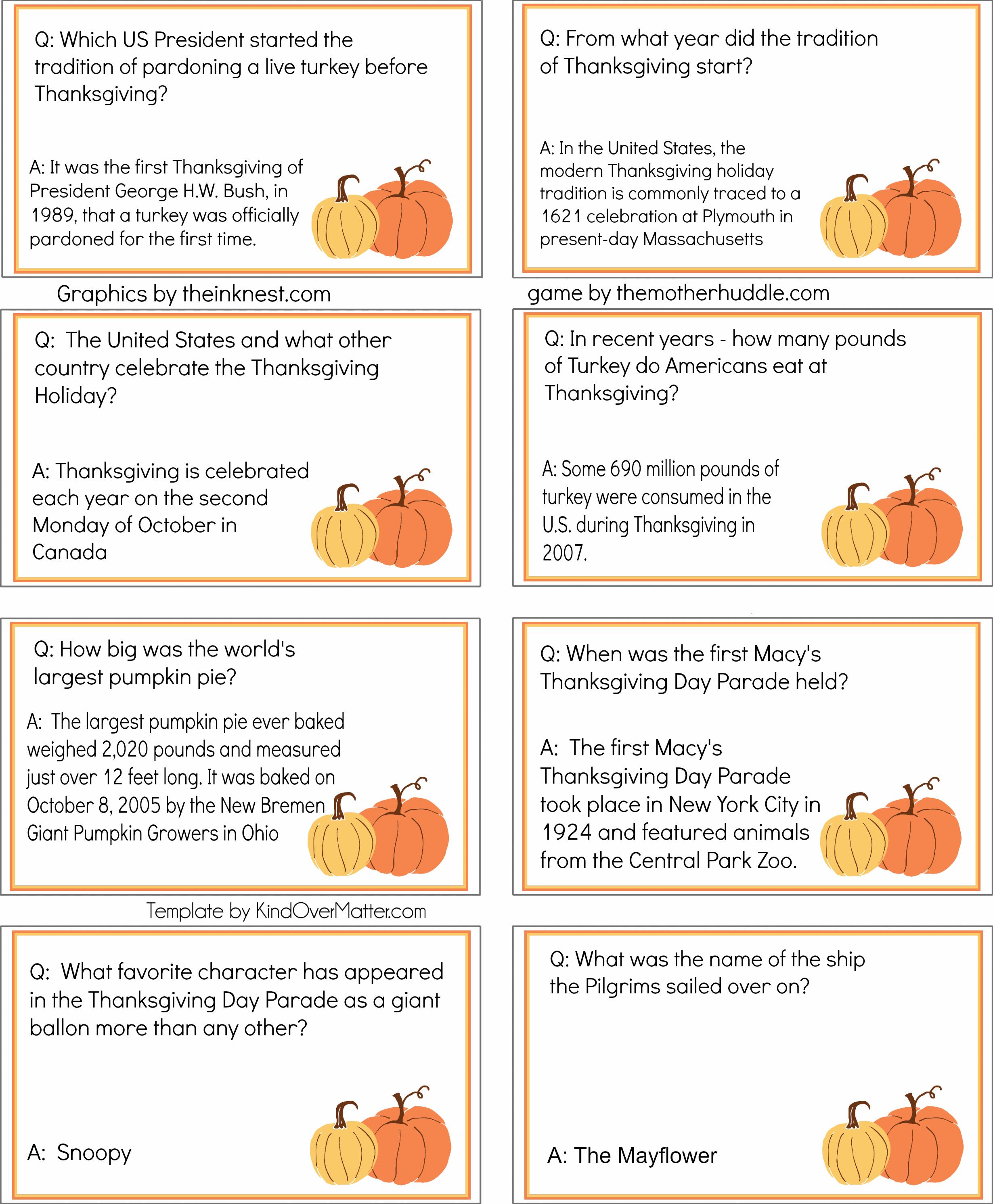 Thanksgiving Trivia Pack 1 2 460 2 984 Pixels