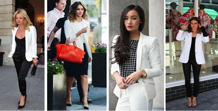 Como usar un blazer blanco mujer