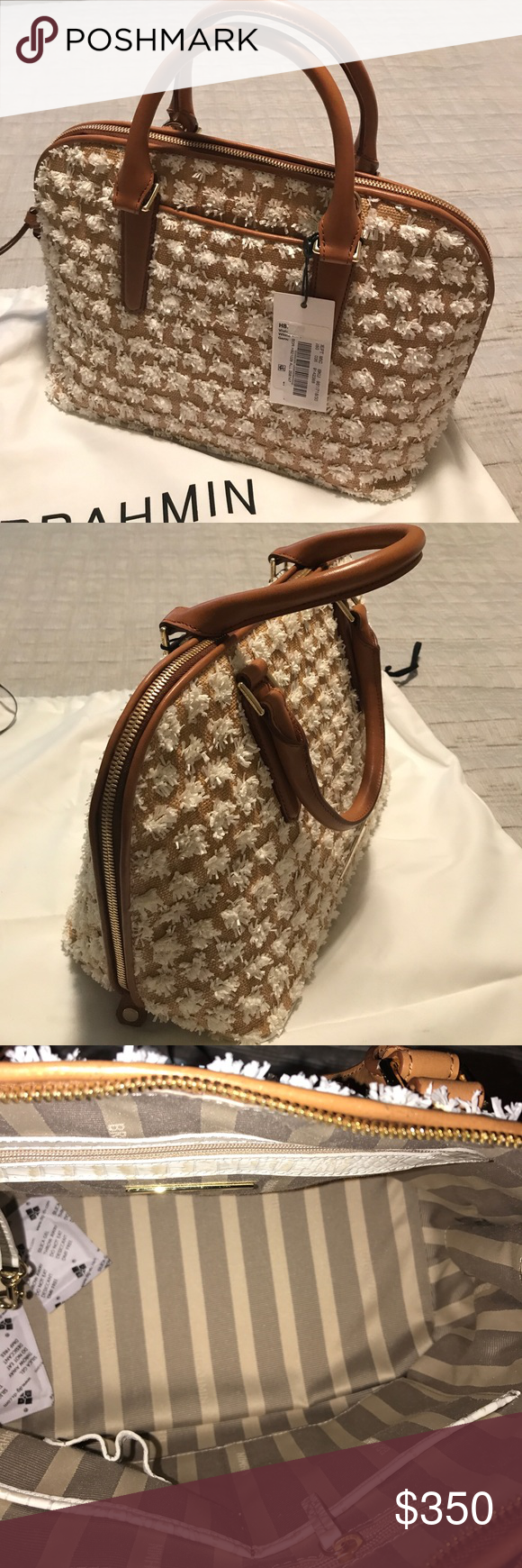 Brahmin bag( authentic) New with tags Brahmin Vivian - white Bora bag. Brahmin  Bags Satchels 11784bf19c