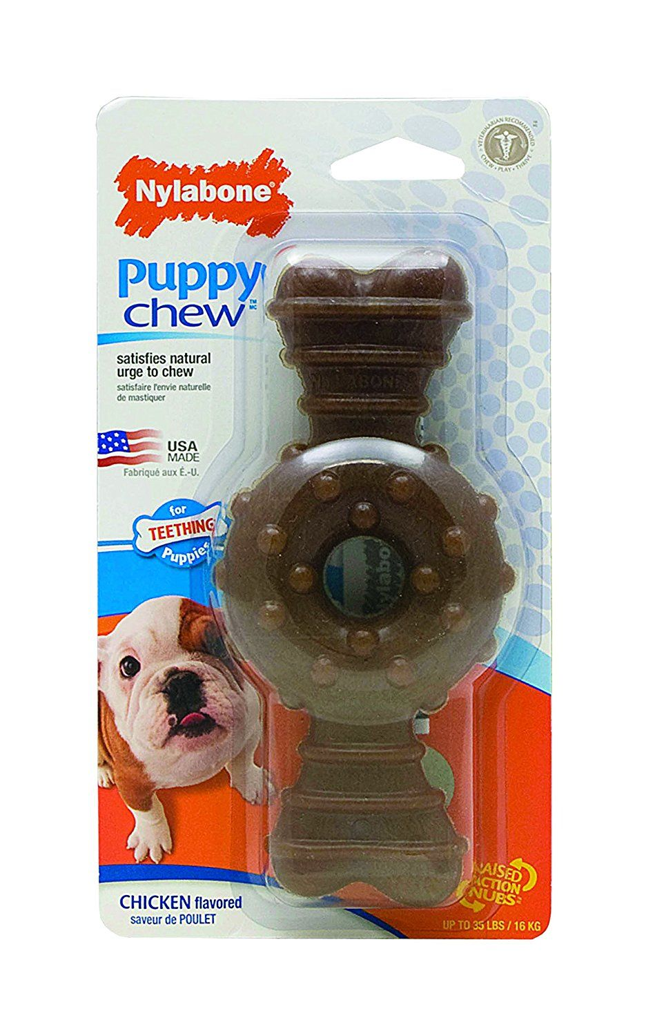 Nylabone Just For Puppies Chicken Flavored Puppy Dog Ring Bone