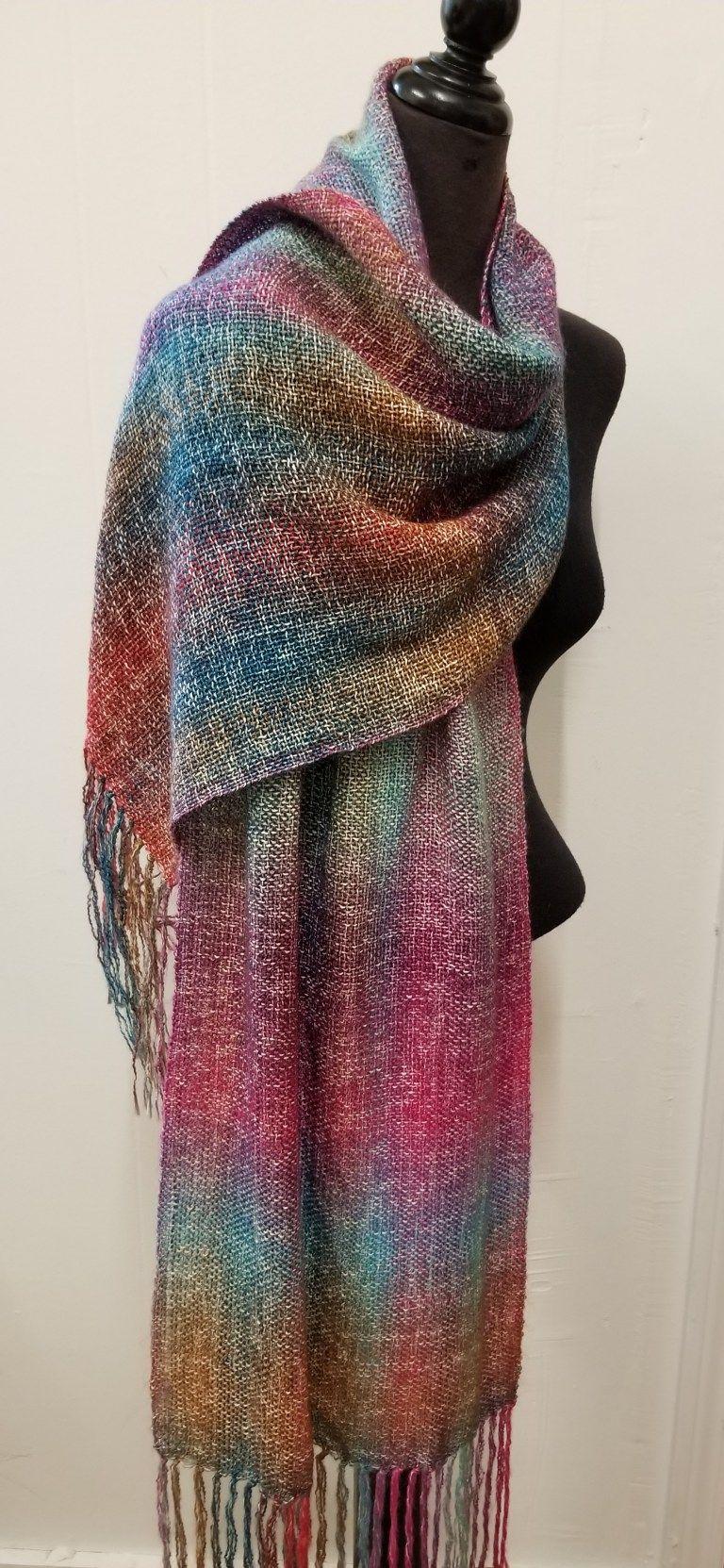 Woven Rainbow Shawls
