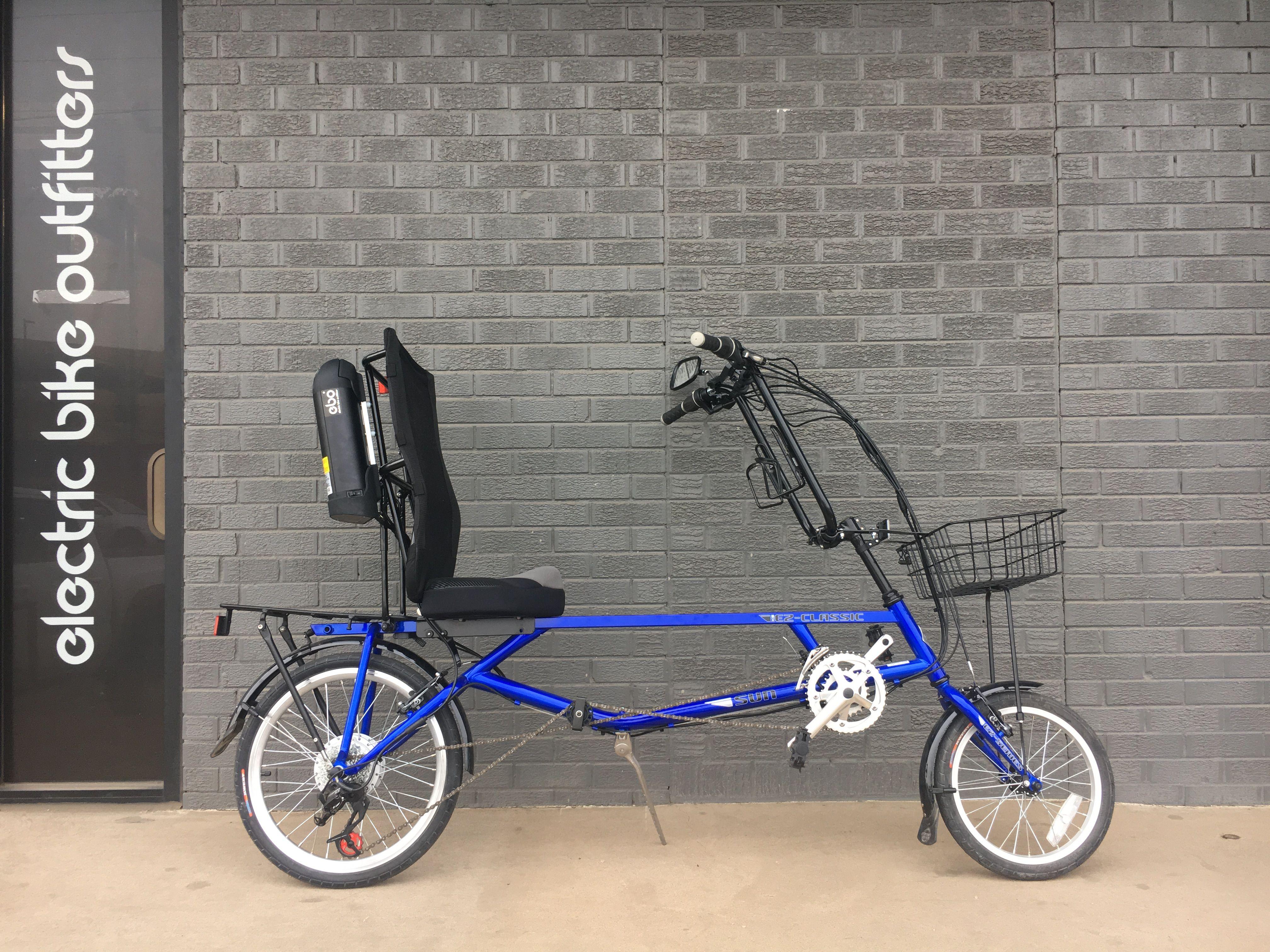 EBO Phantom electric bike conversion kit installed on a