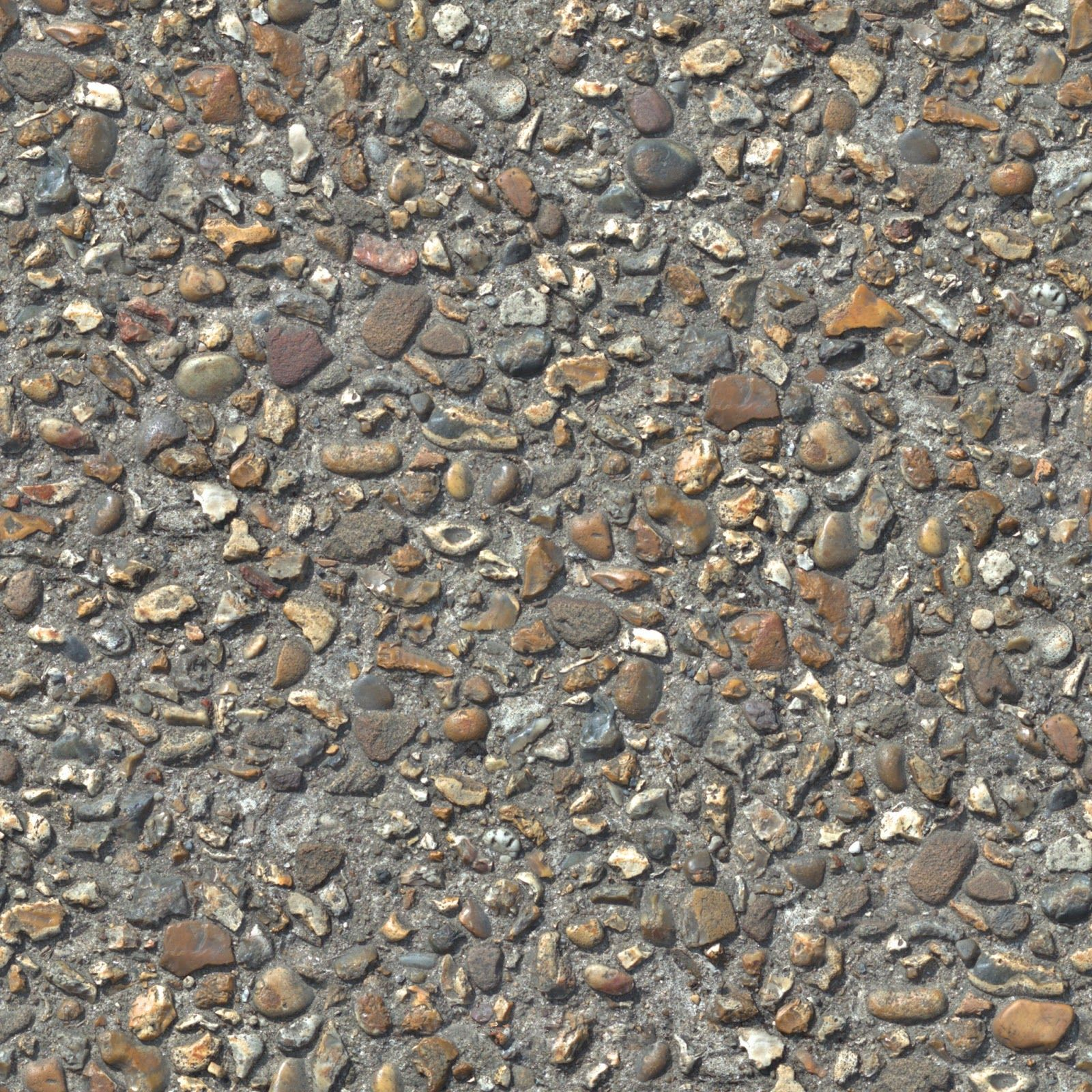 Textures architecture roads roads dirt road texture seamless -  Concrete Cobble Stone 3 Pebble Walkway Seamless Texture 2048x2048