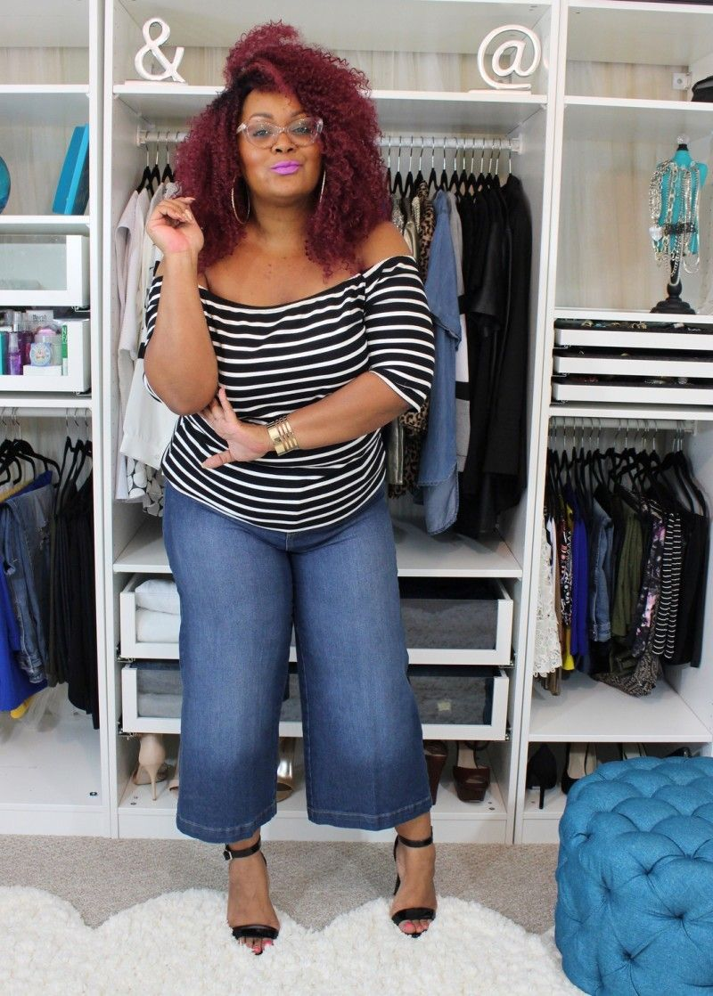 dfb2c76f5bc Wardrobe Remix with these Plus Size Wide Leg Crops! http