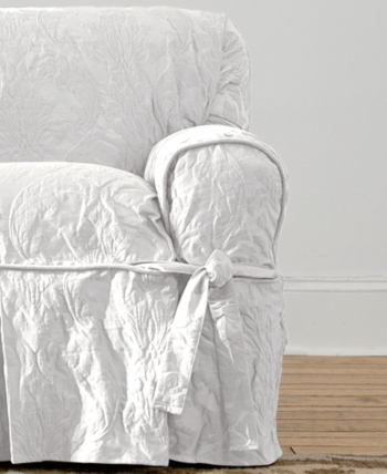 Sure Fit Matelasse Damask Dining Room Chair Slipcover Reviews