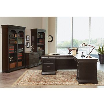 Beaumont Right Return L-Desk Set  Traditional Office furniture