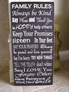 Family rules