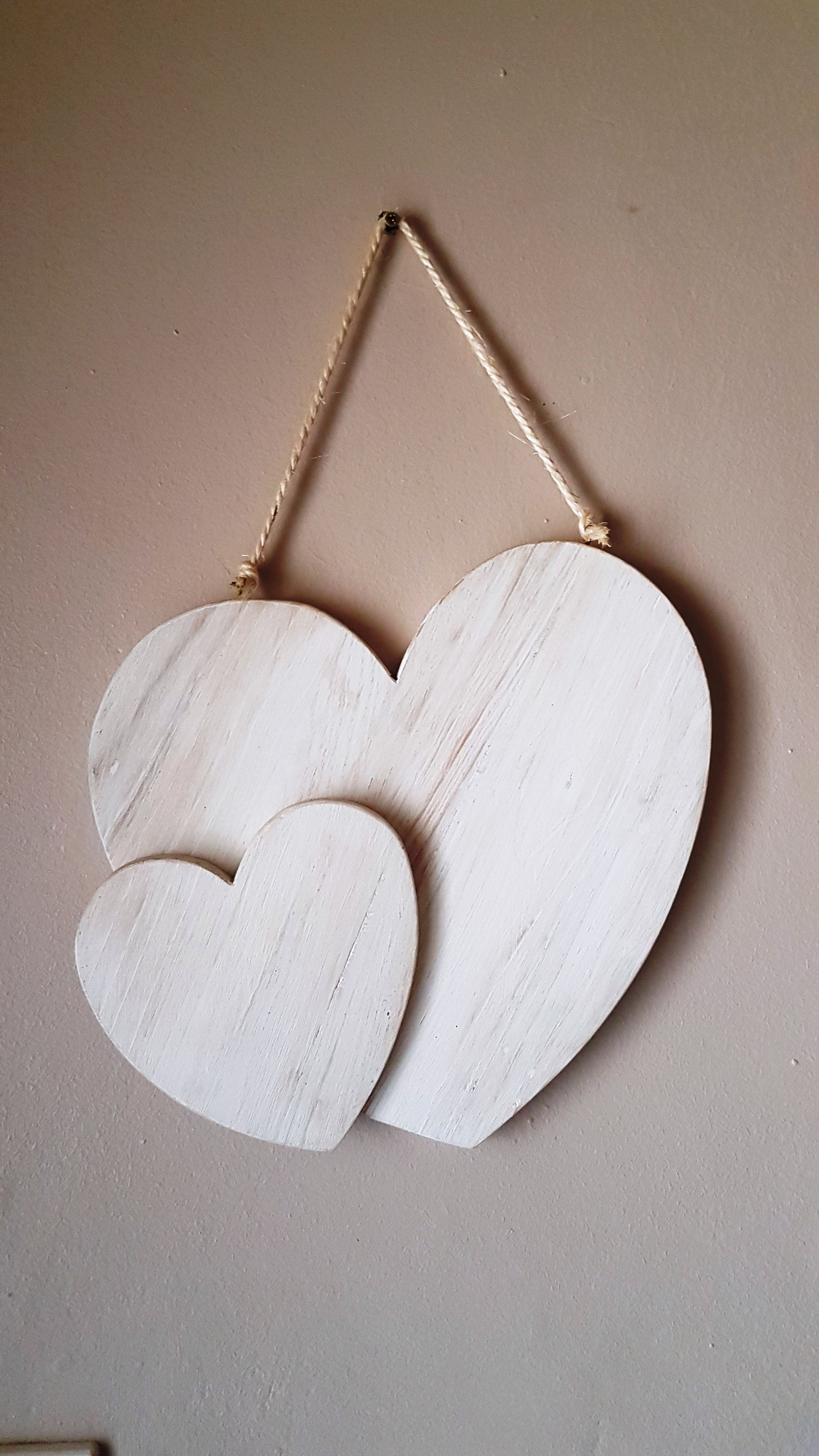 Wooden Hearts Made From Pallet Wood And White Washed Wooden Hearts Whitewash Wood White Wash