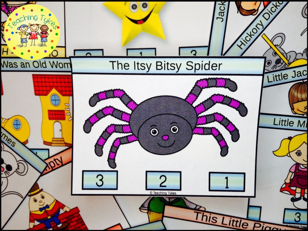 The Itsy Bitsy Spider Task Cards