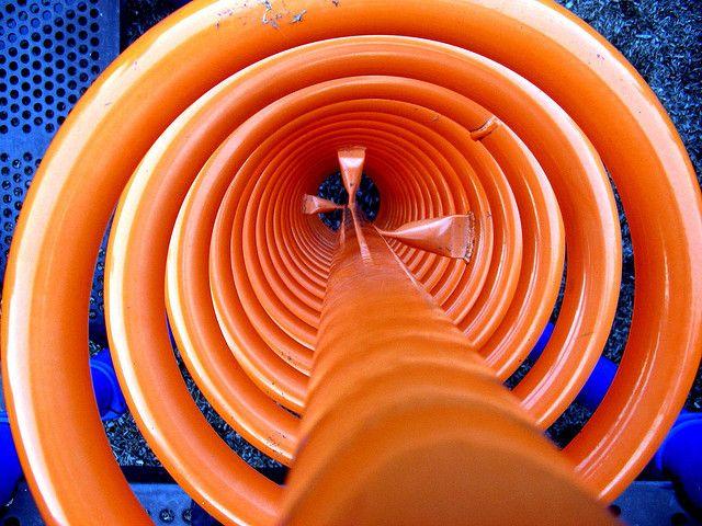 Orange Spiral over blue   Flickr - Photo Sharing!