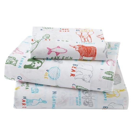 toddler sheets alphabetical animal sheet set in toddler bedding
