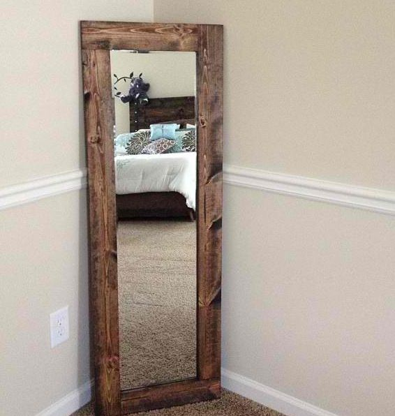 My Stand Up Mirror I Made Myself Stand Up Mirror Rustic Room