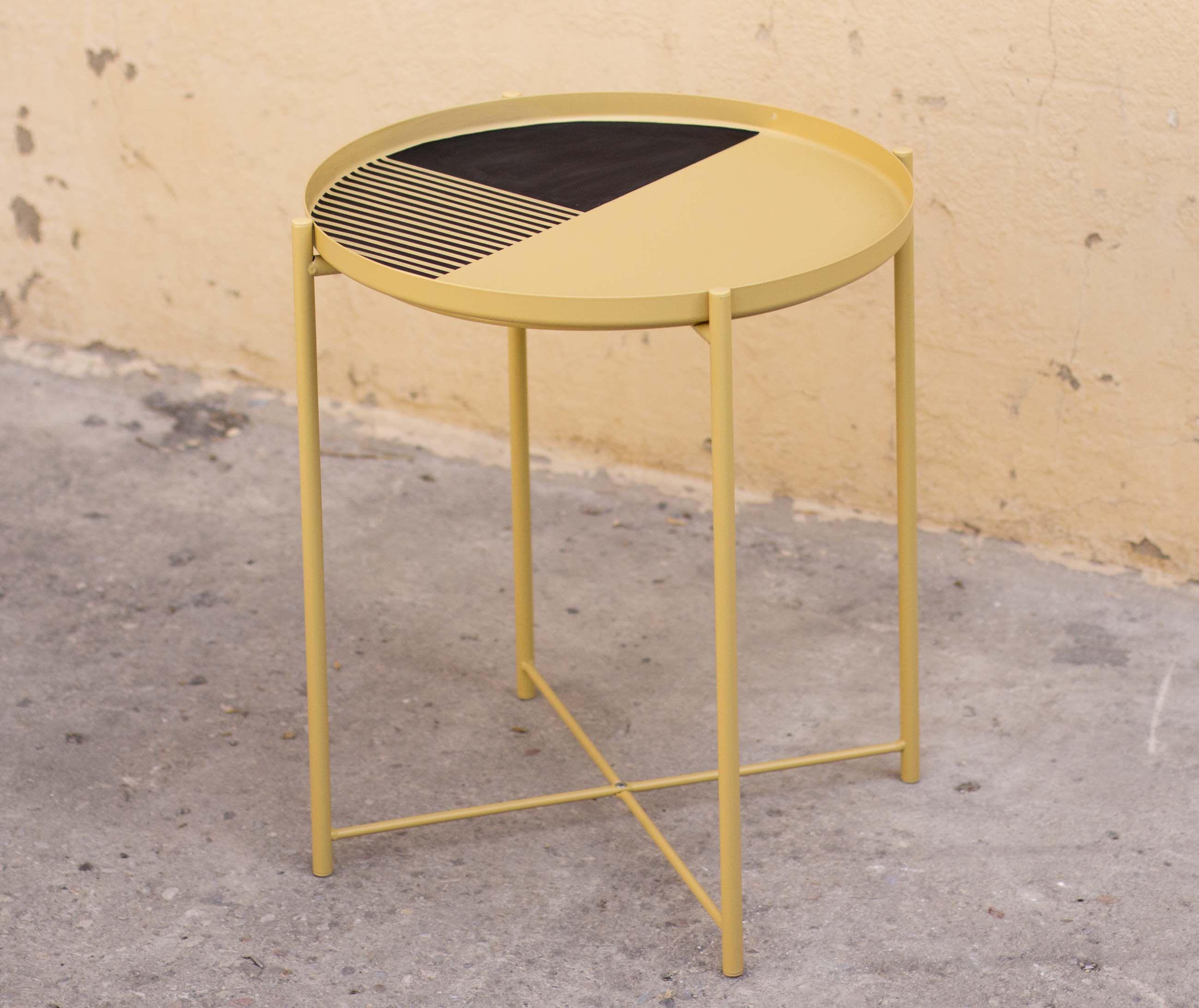 Y Este Es El Resultado De Nuestra Mesita Customizada Y  # Customizar Muebles