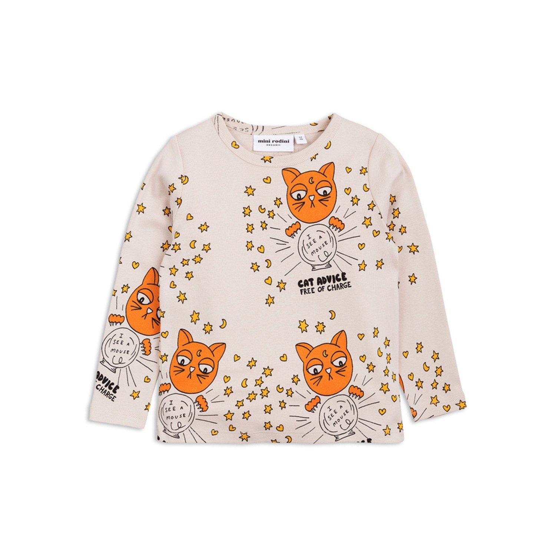 cccdfe46b Mini Rodini Cat advice ls tee in 2019 | Products | Kids tops, Girl ...