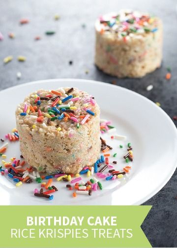 Birthday Cake Rice Krispies TreatsR Are The Perfect Mix Of Tasty And Your Kids Favorite Cereal Treat Shake Things Up At Party With