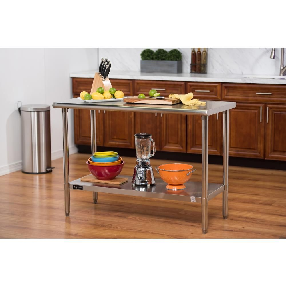 Trinity EcoStorage 48 In. NSF Stainless Steel Table