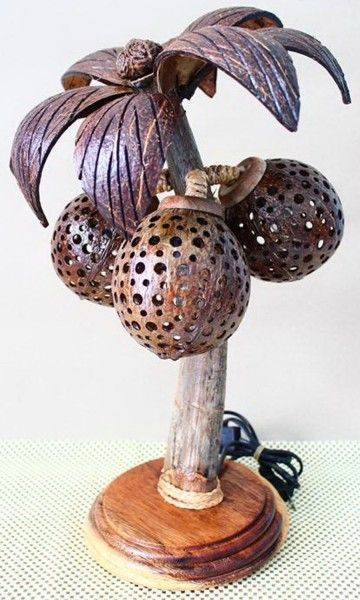 Aneka Lampu Hias Dari Batok Kelapa Kelapa Kreatif Perhiasan Unik