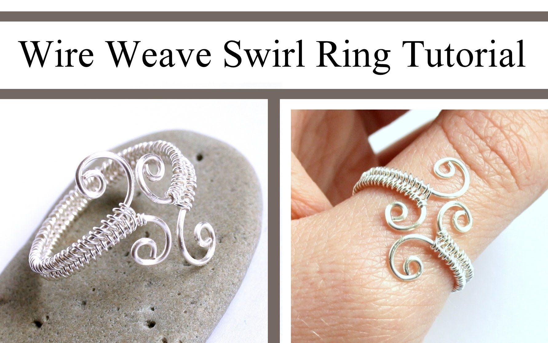 Jewelry Video Tutorial: Adjustable Swirl Wire Wrapped Ring by ...