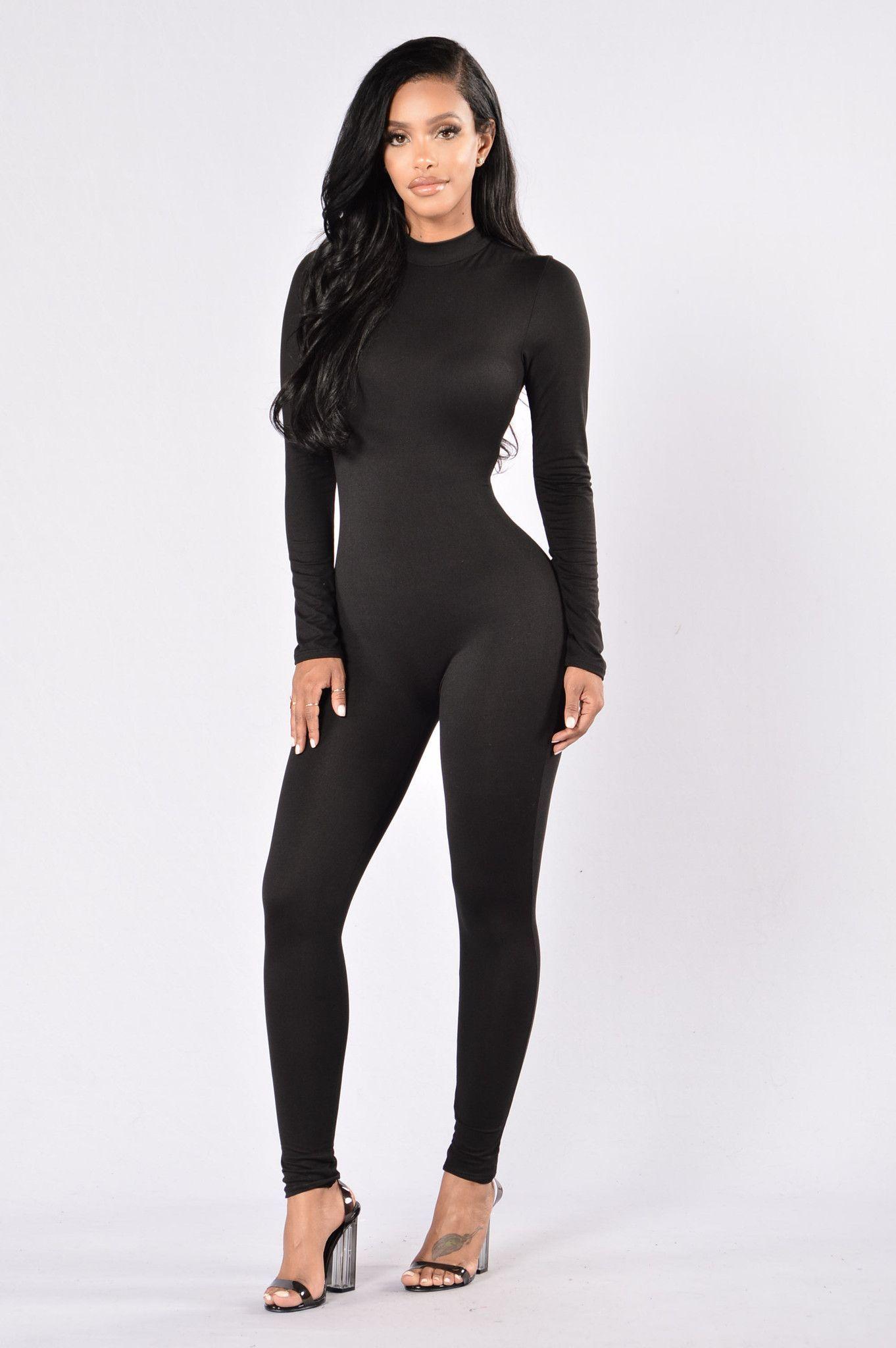 Frisky feline jumpsuit black catsuit black and wraps