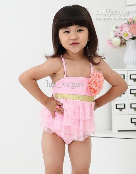 Swimwear Flamingo Baby Girls Tankini Swimwear Children Girl Ruffles Two Pieces Bikini Set Toddler Girls European And American Bath Suit