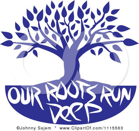 Our roots run deep growing pinterest family reunions royalty free rf family tree clipart illustration by johnny sajem stock sample thecheapjerseys Images