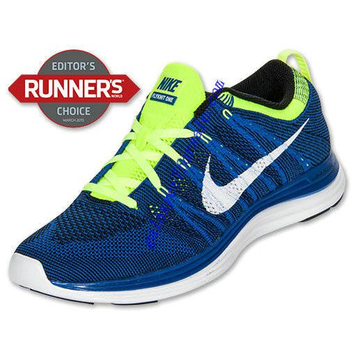 finest selection 9c6c5 74d26 Buy Nike Flyknit Lunar 1 Review Shoes Mens Game Royal White Black Volt  554887 410