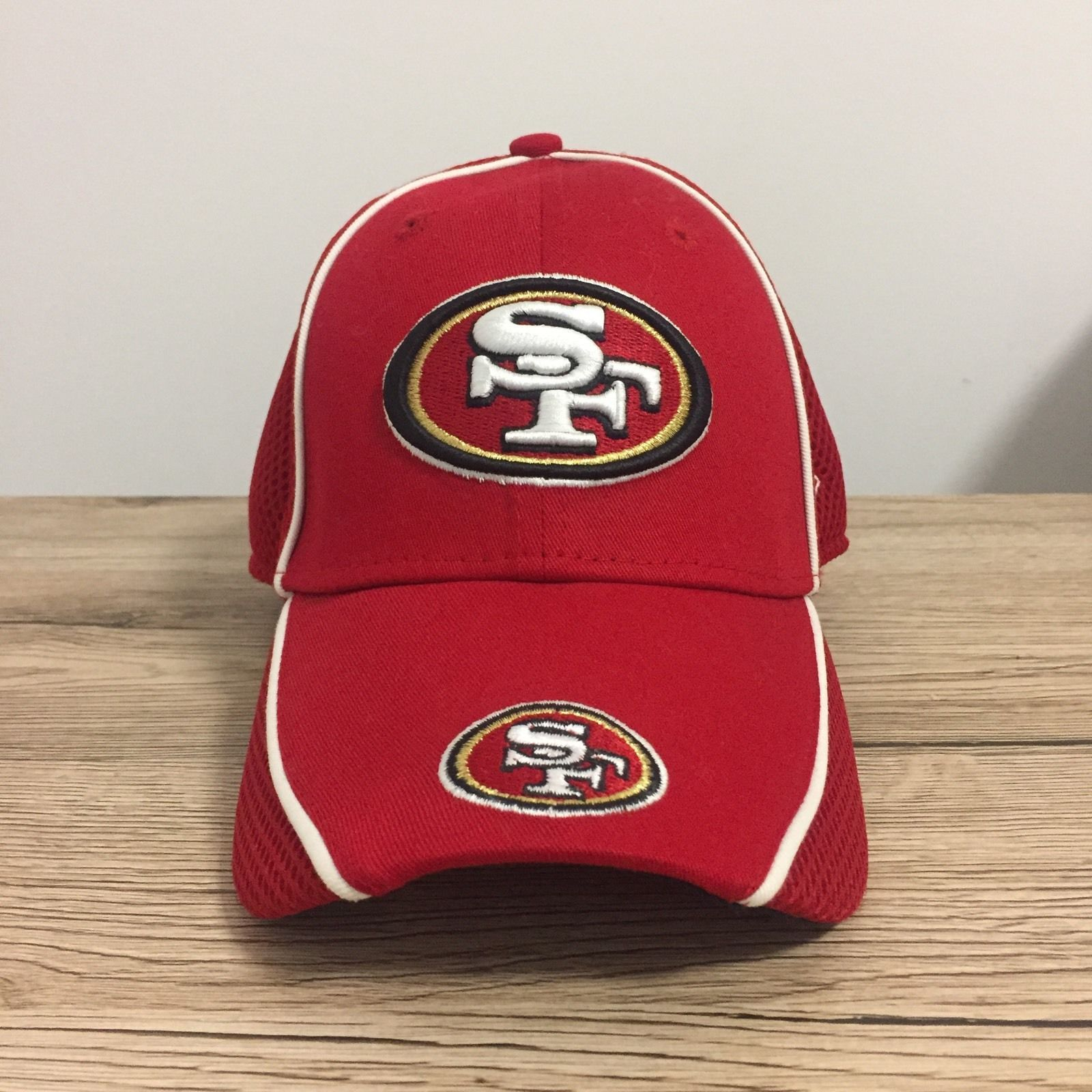 fbd32334 SAN Francisco 49ERS NEW ERA 39THIRTY RED Near NEW Fitted CAP Small ...