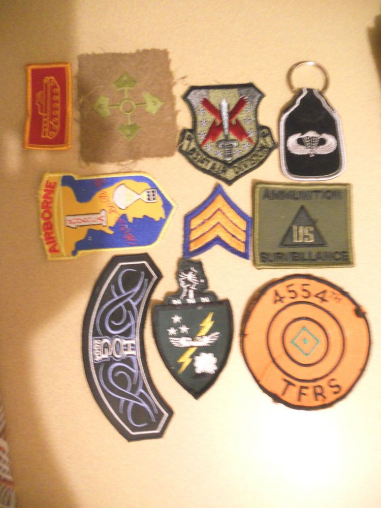 10 DIFF MILITARY PATCHES-LOT    5