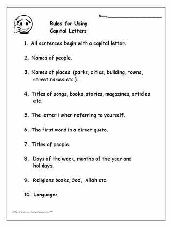 Pin By Tricia Myers On Education Capital Letters Worksheet Punctuation Rules Teacher Books