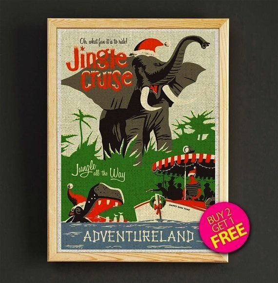 Poster Disneyland Vintage Jungle Cruise Disneyland Print Adventureland Disney Art Jungle River Nursery Wall Art Home Decor 346Disney Poster Disneyland Vintage Jungle Crui...