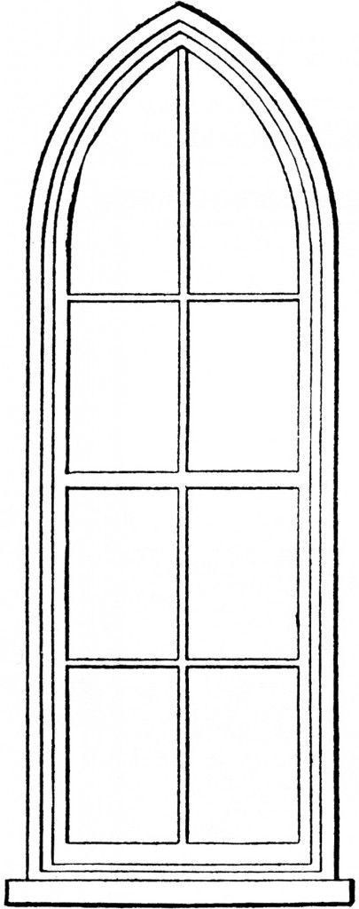 Fenster clipart schwarz weiß  Gothic Church Windows Clip Art | Fenster, Türen und Muster