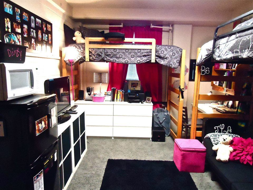 Pin by megan brooks on dorm rooms in 2019 dorm rooms college room college dorm rooms - Dorm room layout ideas ...