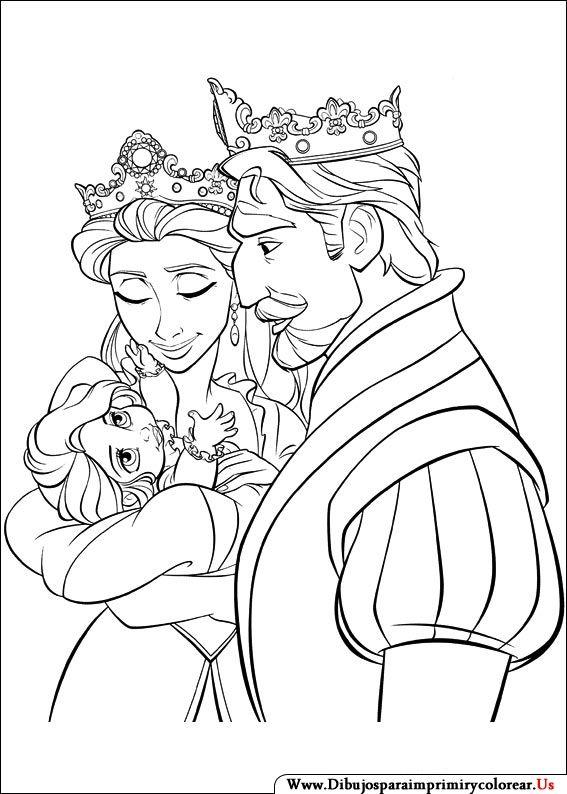 Dibujos De Enredados Para Imprimir Y Colorear Rapunzel Dibujo