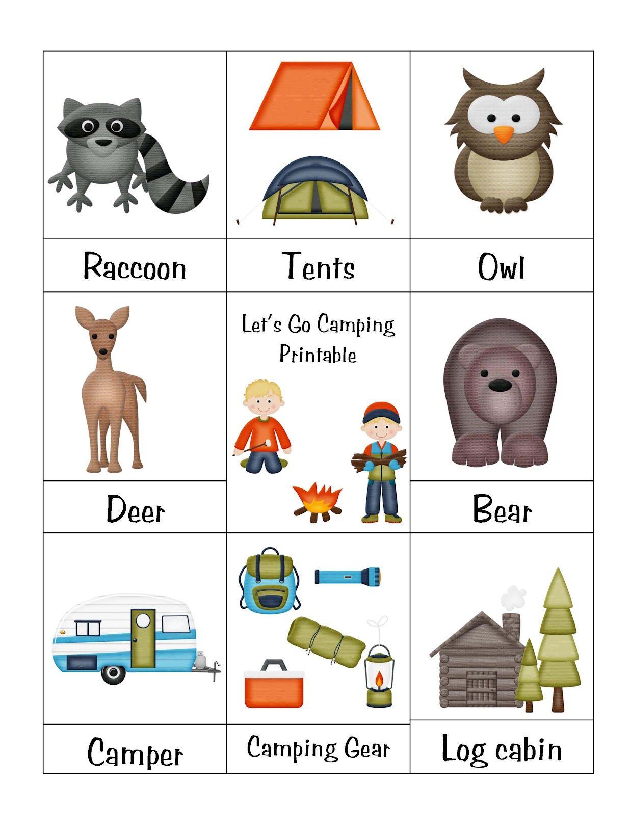 Preschool Printables Camping