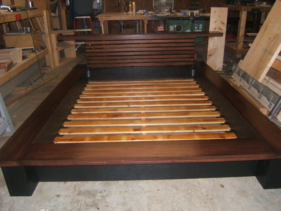 Platform Bed Frames Plans wooden platform bed plans | bed frame plan - outdoor furniture