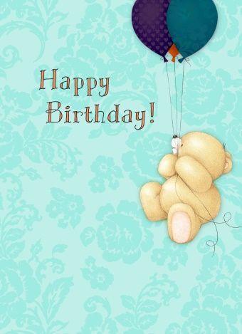 Echte kaarten maken & versturen - Forever Friends kaart - beer aan tros ballonnen