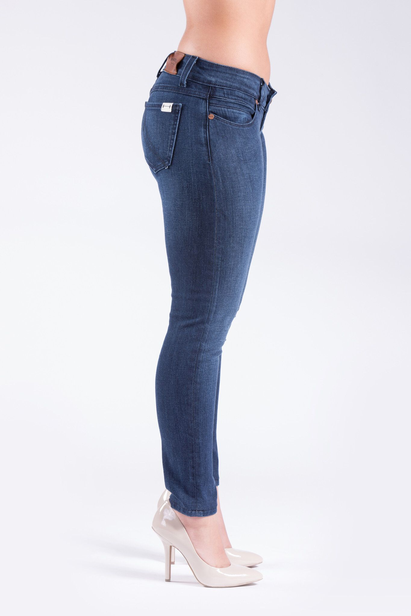 Barbell apparel womens blue fade slim athletic fit denim
