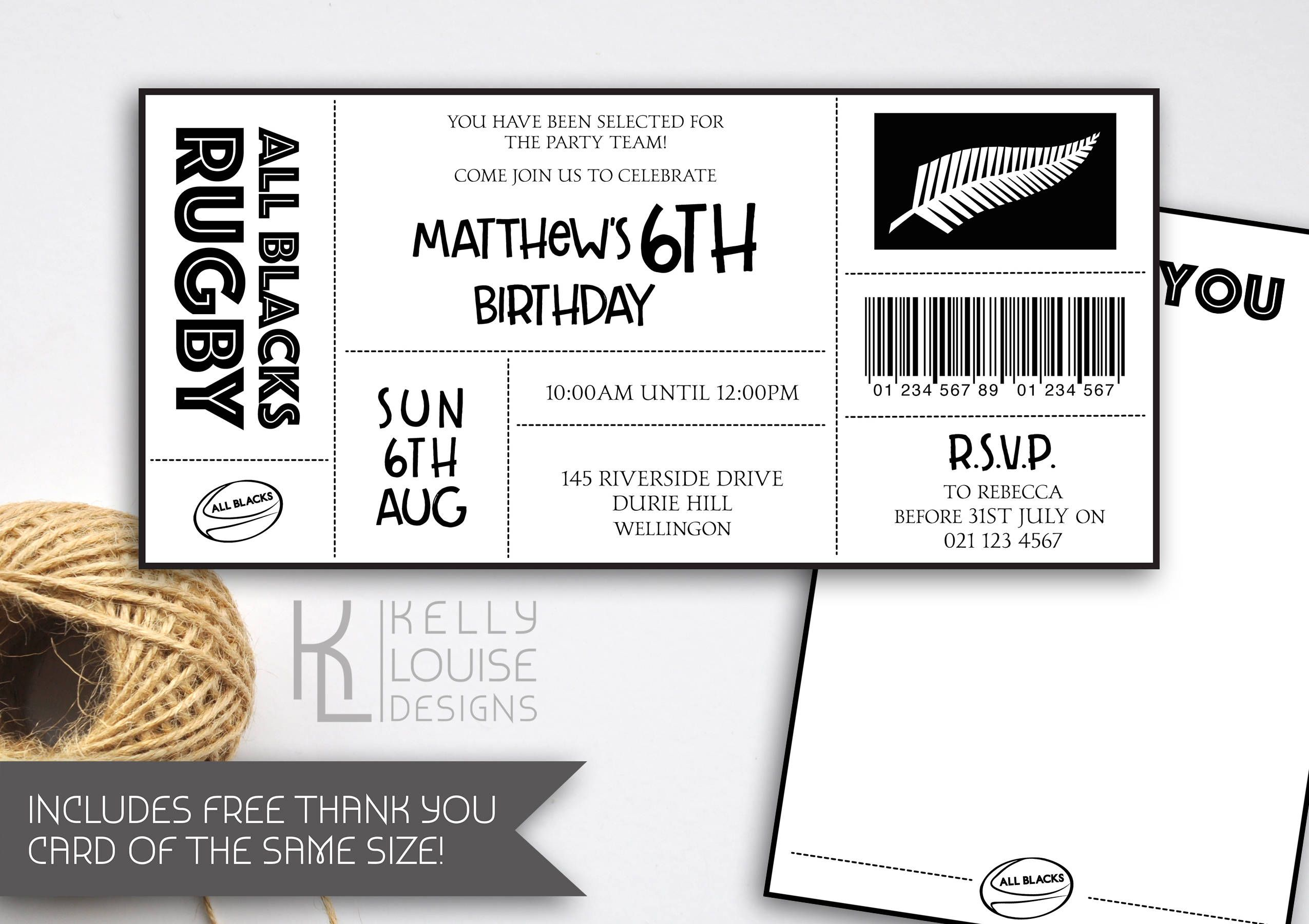 All blacks birthday invitation rugby birthday party all blacks all blacks birthday invitation rugby birthday party all blacks rugby party all blacks rugby ticket invitation nz rugby 187 stopboris Image collections
