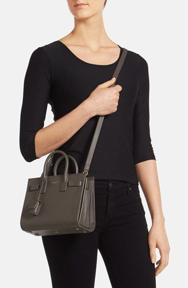 Saint Laurent Baby Sac De Jour Grained Leather Tote
