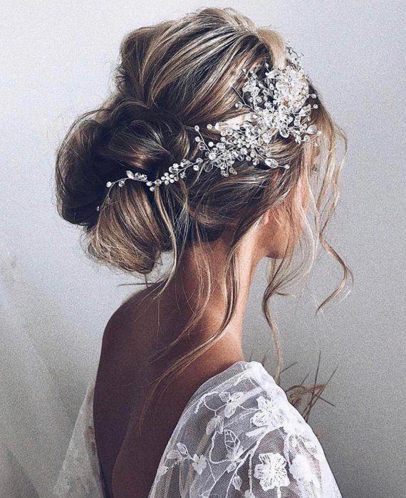 Eleanor, Handmade crystal hairpiece birdal headpiece, hair vine, bridal hair accessories, bridal headband hair jewelry hair adornment
