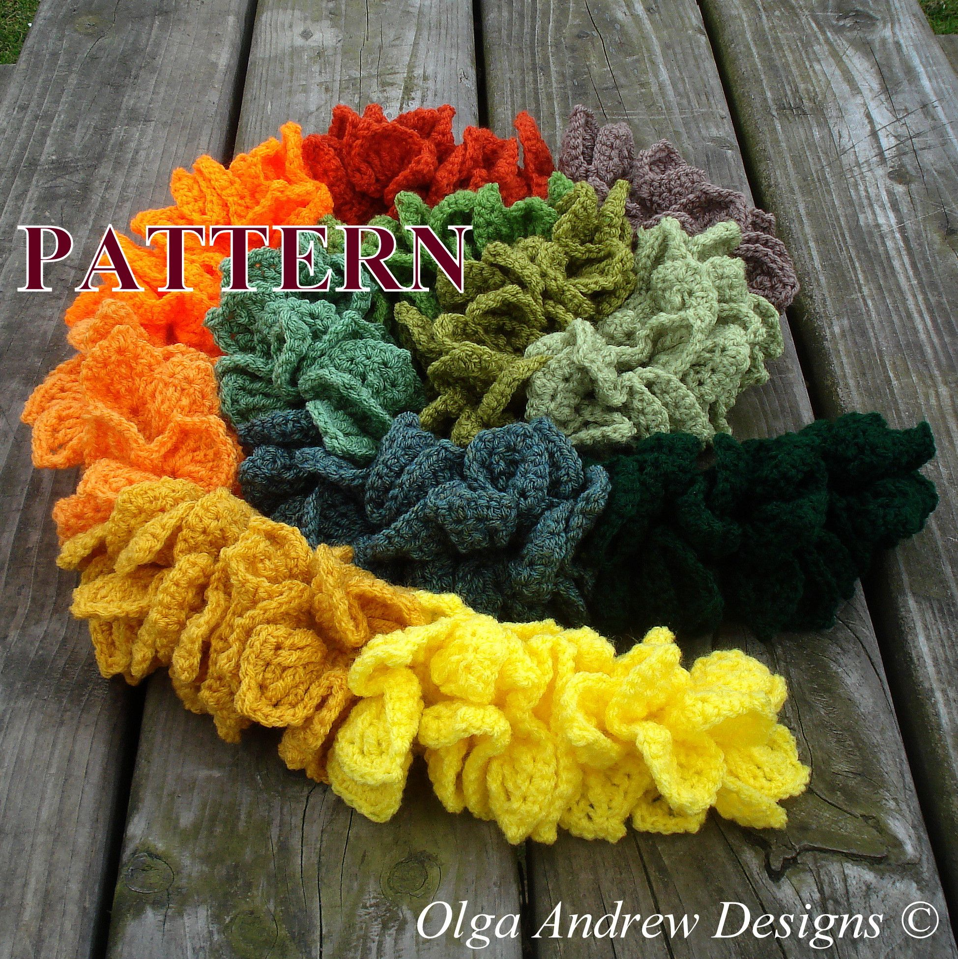 "Twelve Colours of Autumn"". Ruffle spiral scarf. Easy crochet ..."