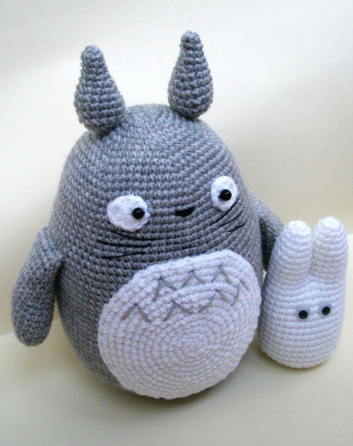 Totoro amigurumi crochet pattern   Totoro, Patrones de crochet y ...