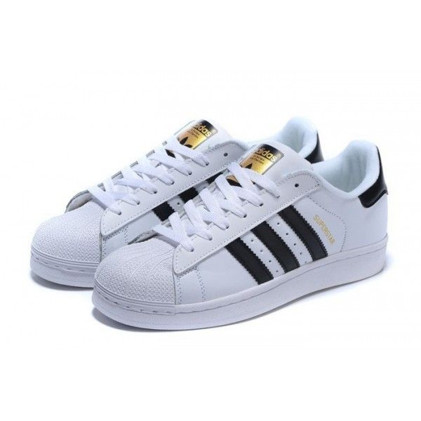 adidas Women Originals Superstar White Black Gold Sneakers Shoes Sale