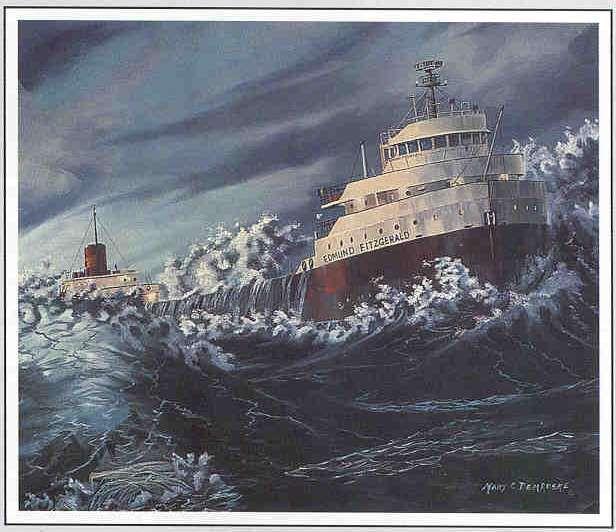 The Edmond Fitzgerald In Shoal Waters Ii By Mary C Demroske
