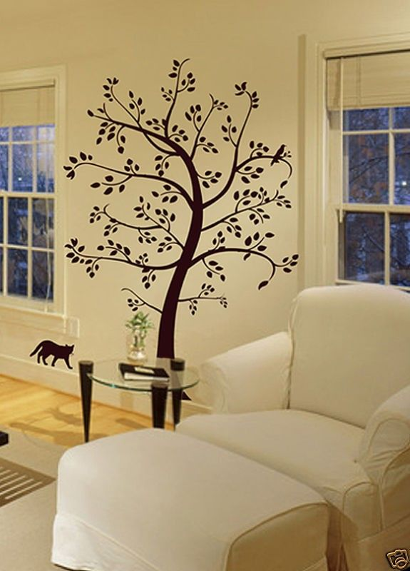 Unique Vinyl tree wall art wall sticker home decor wall decal mural ...