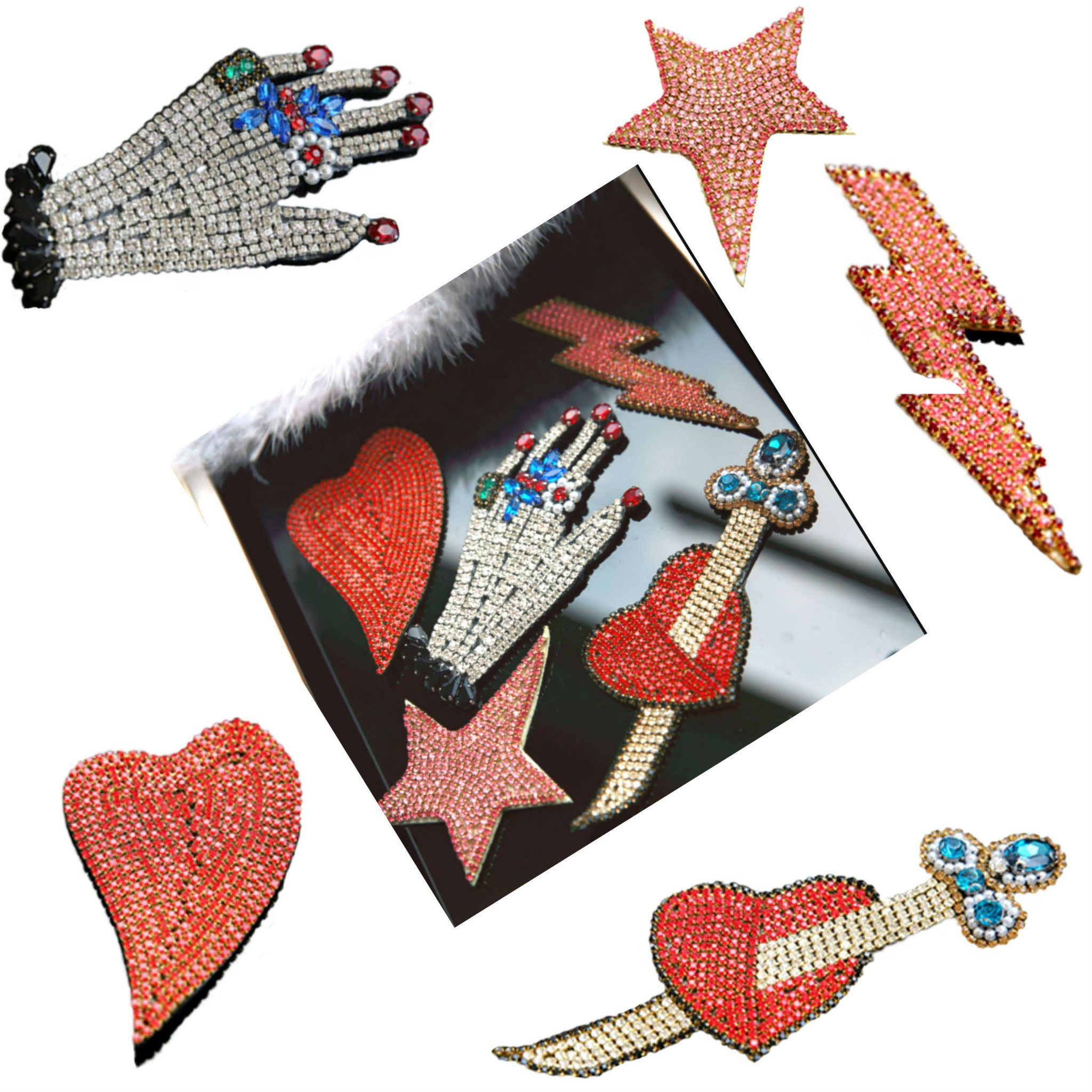Glitter Star Patch Sew Iron On Applique DIY Badge Shoes Clothes Bags Patches