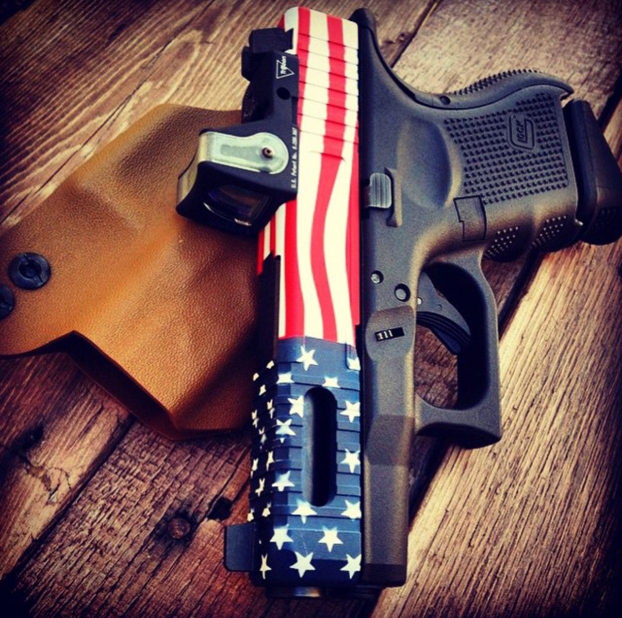 AMERICAN FLAG GLOCK Cool Guns, Revolver, Camouflage, 2nd Amendment, Pistol  For Women 6c8ce22d1ba