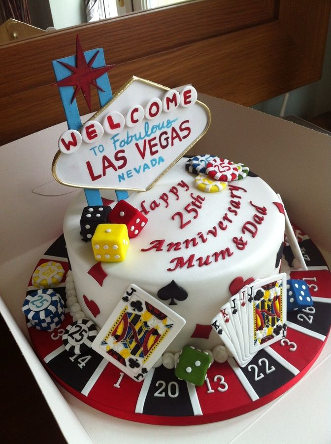 Las Vegas Birthday Cakes Image Description Of