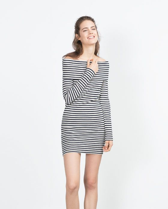 Image 1 of BOAT NECK PRINTED DRESS from Zara | clothes | Pinterest ...